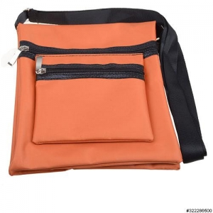 Nylon lightweight triple compartment bag