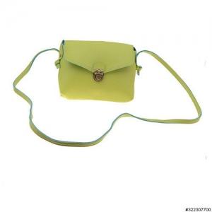Vegan leather clasp closure crossbody mini bag