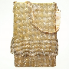 Signature Mini Dress Lavish Mesh Rhinestone Clutch