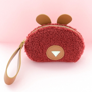 Faux Shearling Change Purse