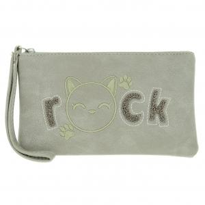 Rock Cat Change Purse
