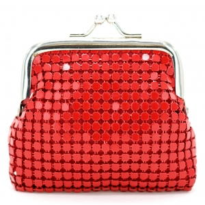 Mini Metallic Mesh Change Purse