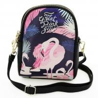 Flamingo Double Compartment Purse Bag