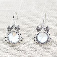 Fashion Crystal Crab Earring