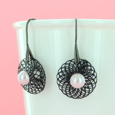 Net Drop Earrings