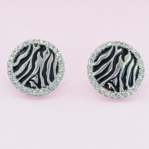 Crystal Deco Circle Earrings