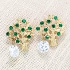 Fashion Crystal Tree Earring