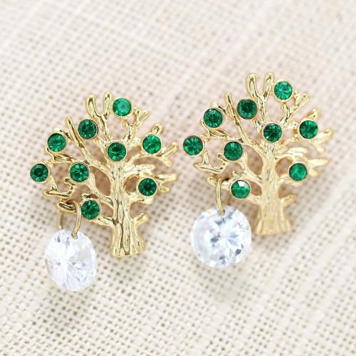 Fashion Crystal Tree Earring