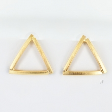 Glossy Matte Finished Triangle Earring