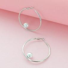 Small Hoop Earring W/ Pearl