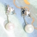 Star & Faux Pearl Cilp On Earring