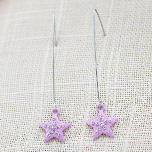 Fashion Crystal Star Earring