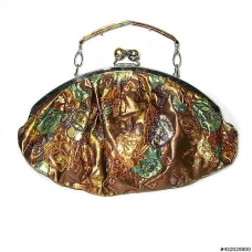 Medium embroidered floral purse