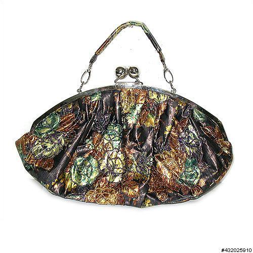 Medium embroidered floral purse