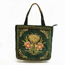 Mix Print Tapestry Convenience Tote