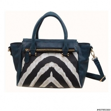 Zebra Print Vegan Leather Tote