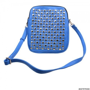 Studded & Crystal Triple Compartment Crossbody Bag