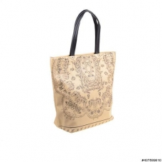Chaming Black Print Tote