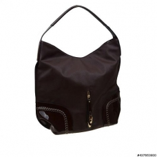 Liquid-Shine Vegan Patent Leather trim Hobo Bag