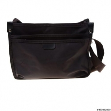 Lightweight Nylon Triple Compartment CrossBody Bag