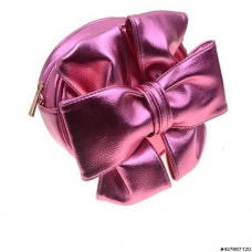 Stylish Metallic Vegan Leather Bow Cross Body Bag