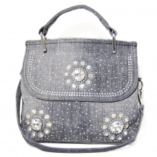 Crystal Deco Demin Satchel