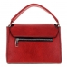 Crystal Deco Top Handle Faux Leather Satchel