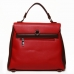 PU Leather Convertible Backpack Shoulder Tote Bag