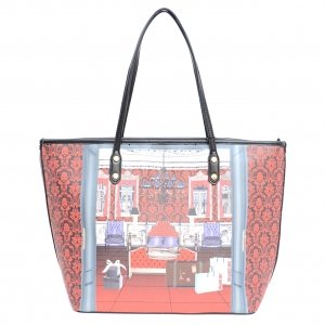 Chaming Mix Print Tote