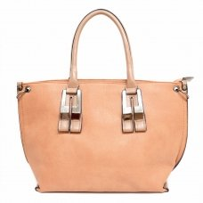 Strip Medium Faux Leather Tote