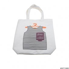 Zipper Closure Canvas Shopping Tote