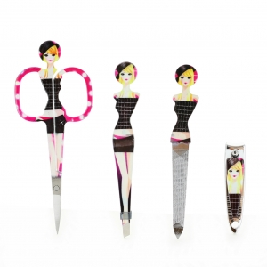 Print Manicure Pedicure Nail Clippers Set 4-in-1