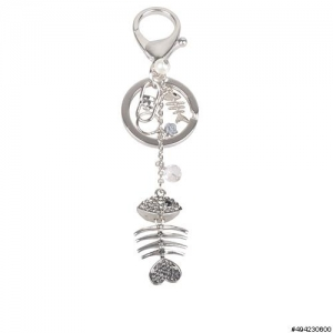 Fish Bone Key Chain