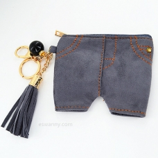 Short Jean Coin Purse Bag Charm