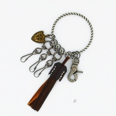 The Biker Leather Key Chain