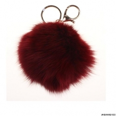 Genuine Fur Bubble Pom Pom Bag Charm