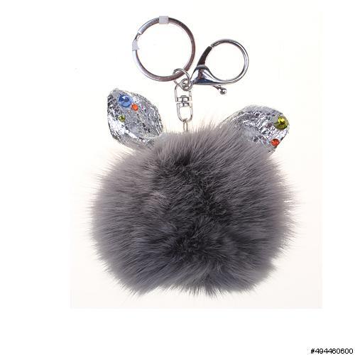 Little Rabbit Genuine Rabbit Fur Pom Pom Bag Charm