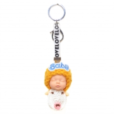 Sleeping Baby Key Chain