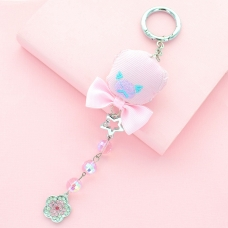 Bear Bag Charm With Hanging Crystal
