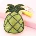 Glitter Crystal Pineapple Key Chain With Tassel