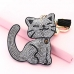 Glitter Crystal Cat Key Chain With Tassel
