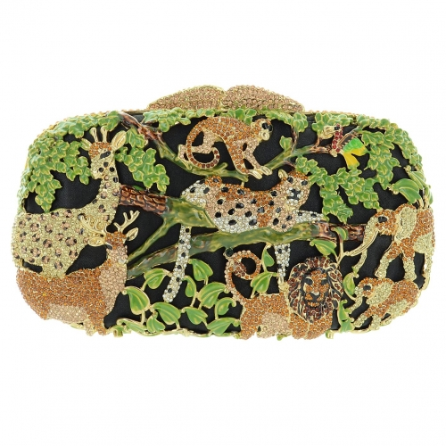 Relief Crystal Animal Kingdom Evening Clutch