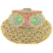 Crystal-Embellished Owl E, White