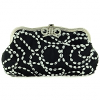 Crystal Bow Wave Ribbon Clutch
