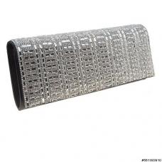 Glamorou Sparkling Crystal Shimmer Metallic Clutch