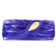 Elegant LiquidShine Vegan Patent Leather Clutch