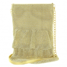 Signature Mini Dress Lavish Mesh Rhinestone Bag