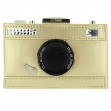 Camera Faux Patent Leathe, Silver