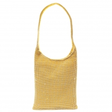 Crystal Metropolitan Mesh shoulder Bag
