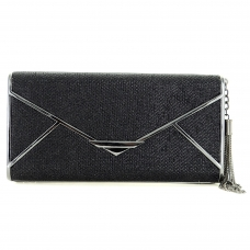 Glitter Pull Tassel Open Box Clutch